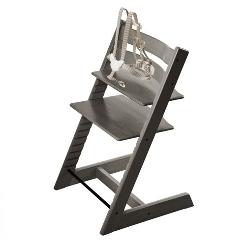 stokke stokke tripp trapp chaise haute high chair gris fonc hazy grey charlotte et charlie. Black Bedroom Furniture Sets. Home Design Ideas
