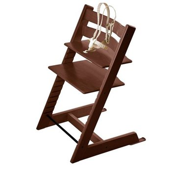 stokke stokke tripp trapp chaise haute high chair marron walnut brown charlotte et charlie. Black Bedroom Furniture Sets. Home Design Ideas