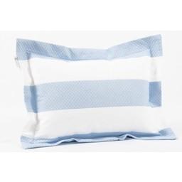 Bouton Jaune *Bouton Jaune - Cache-Oreiller 12x16 Pouces, La Petite Suite/La Petite Suite 12x16 Pillow Cover, Bleu et Blanc/Blue and White CO12X16-134
