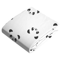 Kushies Drap Contour de Flanelle pour Matelas à Langer de Kushies Baby/Kushies Baby Flannel Change Pad Fitted Sheet, Pandas