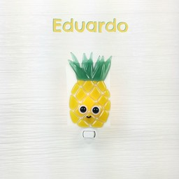 Veille Sur Toi Veille Sur Toi - Veilleuse en Verre Eduardo L'Ananas/Glass Nightlight Pineapple Eduardo