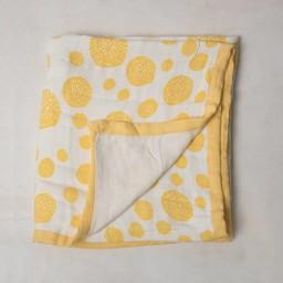Little Unicorn Little Unicorn - Couette Deluxe en Mousseline de Bambou/Deluxe Bamboo Muslin Quilt, Éclats Jaune/Yellow Burst