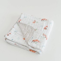 Little Unicorn Little Unicorn - Couette en Mousseline de Coton/Cotton Quilt, Renard/Fox