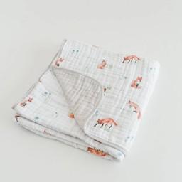 Little Unicorn Little Unicorn - Couette en Mousseline de Coton/Cotton Quilt, Renard/Fox
