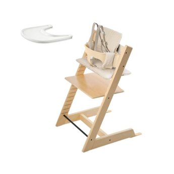 stokke stokke tripp trapp chaise haute ensemble b b coussin et plateau chair babyset. Black Bedroom Furniture Sets. Home Design Ideas