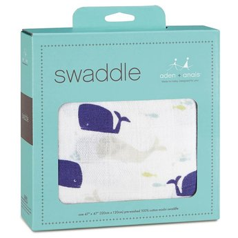 Aden + Anais Couverture en mousseline de coton seule /Single cotton muslin swaddle, High Seas