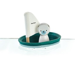 Plan Toys Plan Toys - Bâteau avec Ours Polaire/Sailing Boat Polar Bear