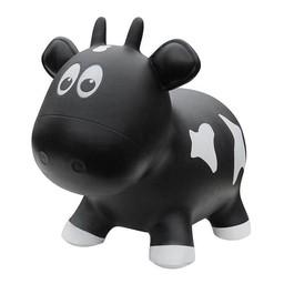 Farm Hoppers Farm Hoppers- Ballon Sauteur/Jumping Animals, Vache Noire/Black Cow