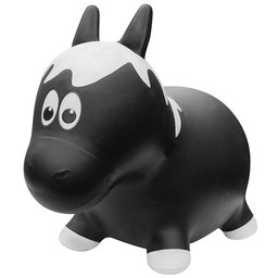 Farm Hoppers Farm Hoppers-Ballon Sauteur/Jumping Animals, Cheval Noir/Black Horse