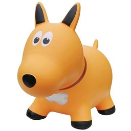 Farm Hoppers Farm Hoppers-Ballon Sauteur/Jumping Animal,Chien Jaune/Yellow Dog
