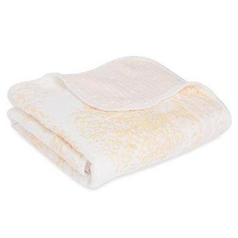 Aden + Anais Aden et Anais - Couverture pour Poussette en Bambou/Silky Soft Stroller Blanket, Bouleau Métallique/Metallic Birch