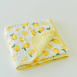 Little Unicorn Little Unicorn - Couette en Mousseline de Coton/Cotton Quilt, Citron/Lemon