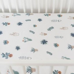 Little Unicorn Little Unicorn - Drap Contour en Coton Brossé/Brushed Cotton Crib Sheet, Piquant/Prickel Pots