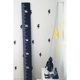 Abricotine Abricotine - Échelle de Croissance/ Scale of Growth, Pouces/Inch/ Noir/Black