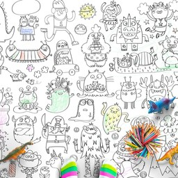 Rue Tabaga Rue Tabaga - Affiche à Colorier Petits Monstres/ Little Monster Coloring Poster