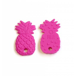 Bulle Bijouterie Bulle Bijouterie - Jouet de Dentition en Silicone/Silicone Teether Toy, Ananas Fushia