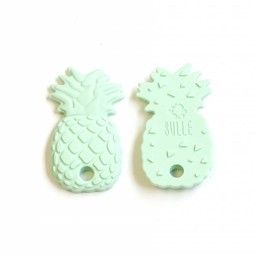 Bulle Bijouterie Bulle Bijouterie - Jouet de Dentition en Silicone/Silicone Teether Toy, Ananas Menthe/Ananas Mint