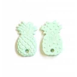 Bulle Bijouterie Bulle Bijouterie - Jouet de Dentition en Silicone/Silicone Teether Toy, Ananas Menthe/Ananas Mint