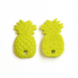 Bulle Bijouterie Bulle Bijouterie - Jouet de Dentition en Silicone/Silicone Teether Toy, Ananas Lime