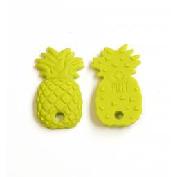 Bulle Bijouterie Bulle Bijouterie - Jouet de Dentition en Silicone/Silicone Teether Toy, Ananas Lime