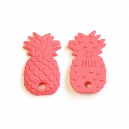 Bulle Bijouterie Bulle Bijouterie - Jouet de Dentition en Silicone/Silicone Teether Toy, Ananas Corail/Ananas Coral