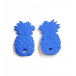 Bulle Bijouterie Bulle Bijouterie - Jouet de Dentition en Silicone/Silicone Teether Toy, Ananas Bleu Royal/Ananas Royal Blue