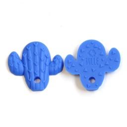 Bulle Bijouterie Bulle Bijouterie - Jouet de Dentition en Silicone/Silicone Teether Toy, Cactus Bleu Royal/Cactus Royal Blue