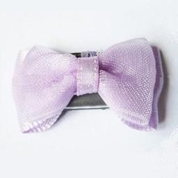Baby Wisp *Mini Latch Petite Barrette Organza et Satin de Baby Wisp/Baby Wisp Mini Latch Organza and Satin Bow Lavende/Lavender Taille Unique/One Size