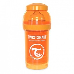 Twistshake Twistshake - Biberon Anti-Colique 180 ml/180 ml Anti Colic Bottle, Orange/Orange