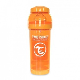 Twistshake Twistshake - Biberon Anti-Colique/Anti-Colic Bottle, 260 ml, Orange/Orange