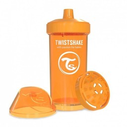 Twistshake Twistshake - Gobelet pour Enfant/Kid Sippy Cup, Orange/Orange