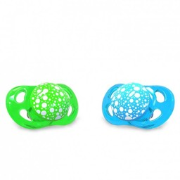 Twistshake Twistshake - Paquet de 2 Suces, 0-6 mois/ Pack of 2 Pacifier, 0-6 months, Bleu Vert/Blue Green