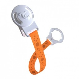 Twistshake Twistshake - Attache-Suce/Pacifier Clip, Orange/Orange