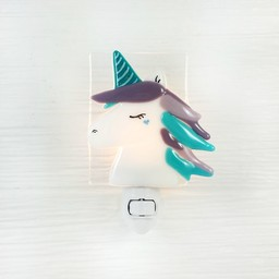 Veille Sur Toi Veille Sur Toi - Veilleuse en Verre Clara la Licorne/Glass Nightlight Clara The Unicorn