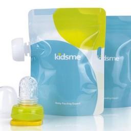 Kidsme Kidsme - 2 Pochettes à Purée Réutilisables avec Adaptateur/Set of 2 Reusable Food Pouch with Adaptor