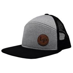 L&P L&P - Casquette Orleans/Orlean Cap, Noir et Gris/Gray and Black