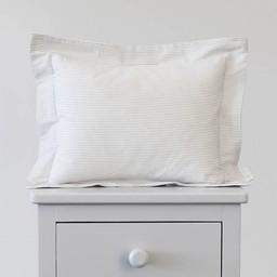 Bouton Jaune Bouton Jaune - Cache-Oreiller 10x13 Pouces/10x13 Inches Pillow Cover, Liberté, Rayé Gris/Grey Stripe