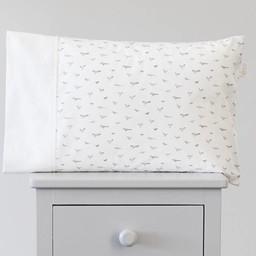 Bouton Jaune Bouton Jaune - Cache-Oreiller 12x16 Pouces/12x16 Inches Pillow Cover, Liberté, Oiseaux Gris/Grey Bird