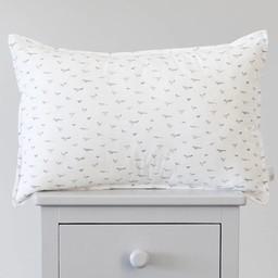 Bouton Jaune Bouton Jaune - Cache-Oreiller 13X20 Pouces/13X20 Inches Pillow Cover, Liberté, Surpiqué Oiseaux Gris/Stitched Grey Bird
