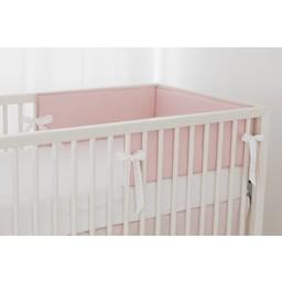Bouton Jaune Bouton Jaune - Demi-Bordure de Lit/ Bed Half Bumper, Liberté, Pois Rose/Pink Dots