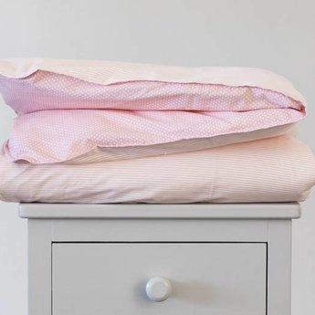 Bouton Jaune Bouton Jaune - Housse de Couette/Duvet Cover, Liberté, Rayé, Pois Rose/Pink Dots, Stripe