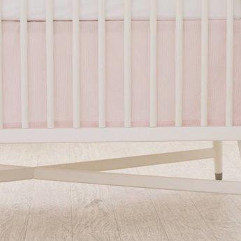 bouton jaune jupe de lit bedskirt libert ray rose pink stripe charlotte et charlie. Black Bedroom Furniture Sets. Home Design Ideas