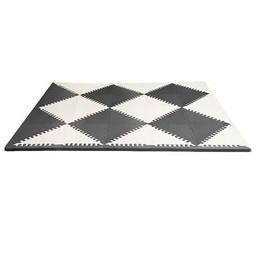 Skip Hop Skip Hop - Tapis de Sol Geo Playspot/Playspot Geo Foam FLoor Tiles, Noir et Crème/Black and Cream