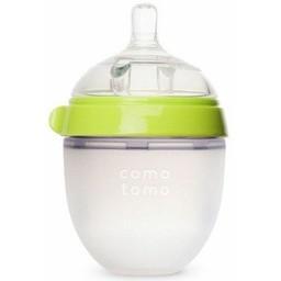 Como Tomo Como Tomo - Bouteille Touché d'Allaitement 150ml/Breatfeeding Baby Bottle 150ml Vert/Green