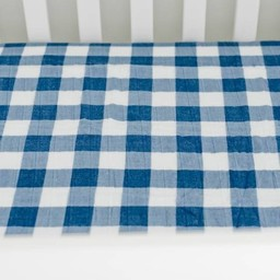 Little Unicorn Little Unicorn - Drap Contour en Coton Brossé/Brushed Cotton Crib Sheet, Jack à Carreaux/Jack Plaid