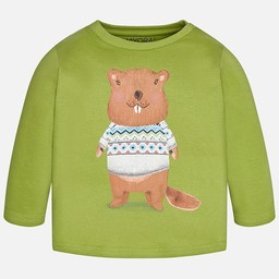 Mayoral Mayoral - T-Shirt Castor/Beaver T-Shirt