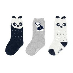 Mayoral Mayoral - Ensemble de (3) Paires de Chaussettes Panda/Set of (3) Pair of Panda Socks