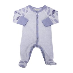 Coccoli Coccoli, Country Living - Pyjama à Pattes en Coton/Cotton Footie, Mauve/Purple
