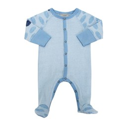Coccoli Coccoli, Country Living - Pyjama à Pattes en Coton/Cotton Footie, Bleu/Blue