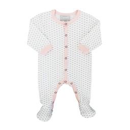 Coccoli Coccoli - Pyjama à Pattes en Jersey/Jersey Footie, Coeur Rose/Pink Hearts